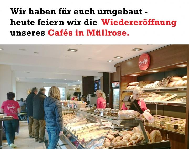 Wiedereröffnung Café Müllrose