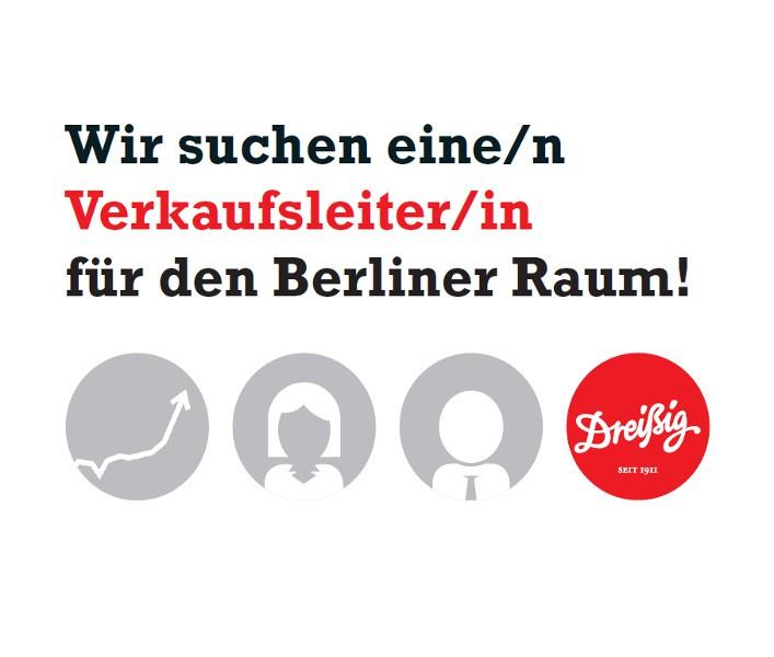 Wir suchen einen Verkaufsleiter (m/w) für den Berliner Raum!