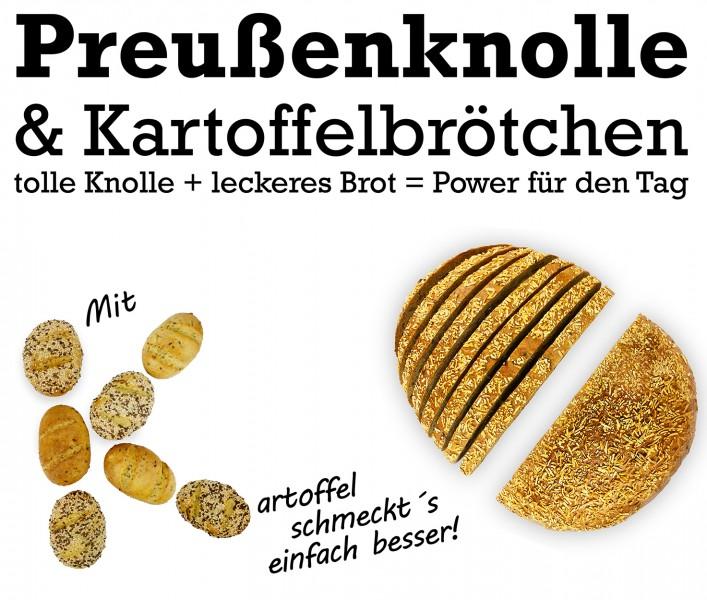 Preußenknolle & Kartoffelbrötchen: unsere Brototypen im September